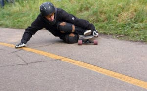 easy way to stop a longboard