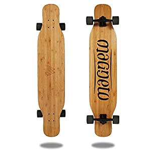 Magneto Longboards Bamboo Longboards for Cruising, Carving, Free-Style