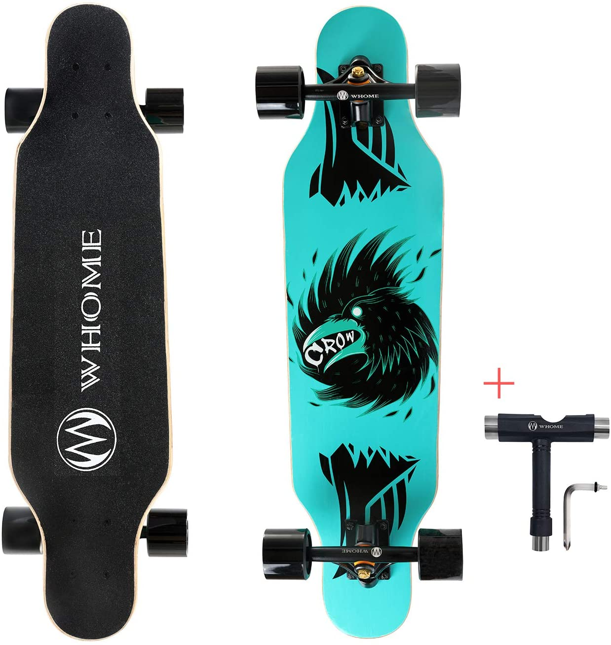 WHOME Pro Small - Budget-Friendly Drop Through Short Longboard
