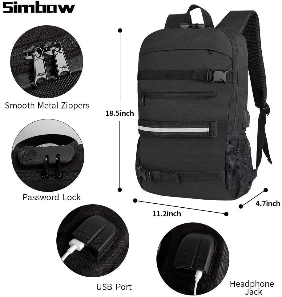 Simbow Skateboard/Laptop Backpack